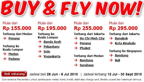 Tiket Pesawat Promo Air Asia Periode Beli 28 Juni 8 Juli 2010