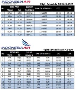 Indonesia Air Jadwal Penerbangan